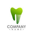 tooth implant logo icon of implant logo vector image vector image