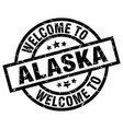 welcome to alaska black stamp vector image vector image