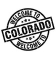 welcome to colorado black stamp vector image vector image