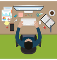 Working office man vector image