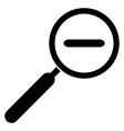 Zoom out icon Magnifying glass with minus symbol vector image