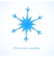 Blue watercolor snowflake vector image