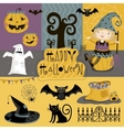 Set traditional elements of Halloween vector image