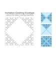 Envelope template For Laser cut vector image