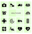 14 healthcare icons vector image vector image