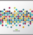 abstract colorful circle pattern pixel background vector image