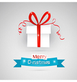 Abstract Merry Christmas theme - present on grey vector image vector image