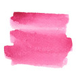 abstract rose pink brush stroke area watercolor vector image