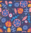 abstract tropical floral fruit seamless vector image