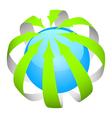 arrows ball vector image