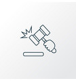 auction icon line symbol premium quality isolated vector image