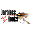 barbless fly hooks vector image vector image