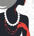 Beautiful fashion woman silhouette vector image vector image