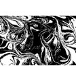 black and white liquid texture hand drawn vector image vector image