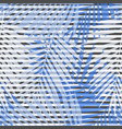 blue striped palm leaves seamless pattern vector image vector image