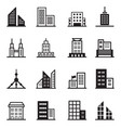 building tower architectural icons vector image vector image