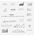 business finance statistics infographics doodle vector image vector image