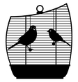Cage with birds-1 vector image vector image