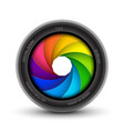 camera shutter photography icon aperture focus vector image