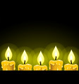 candles on a dark background vector image vector image