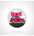 Car gift flat colorful icon vector image vector image