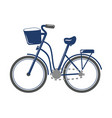 cartoon bicycle transport vector image vector image