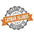 cayman islands round ribbon seal vector image vector image