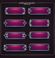 collection of interface elements text boxes and vector image vector image
