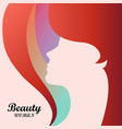 colorful hair color beautiful girl of woman vector image
