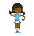comic cartoon pretty maid woman vector image vector image