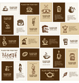 Design of business cards for coffee company vector image