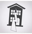 earthquake symbol icon vector image