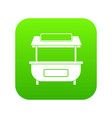 empty counter with canopy icon digital green vector image