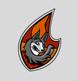 Fox head emblem vector image vector image