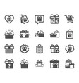 gift icons present offer and sale vector image vector image