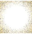 gold glitter background fram vector image