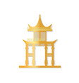 golden japan gate with decorated roof vector image vector image