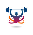 gymnasium fitness logo vector image vector image