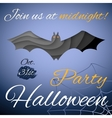 Halloween party poster Dark paper bat vector image vector image