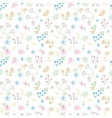 hand drawn doodle flower seamless pattern vector image vector image