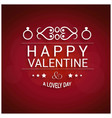 happy valentines day greetings card with red vector image vector image