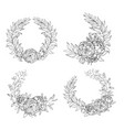 holiday wreaths for any event vector image vector image