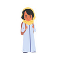 islamic girl with backpack goes to school flat vector image vector image