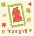 Its a girl card vector image vector image