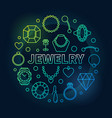 jewelry colorful round outline vector image