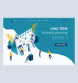 landing page for business solutions vector image