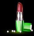 lipstick and pearls vector image vector image