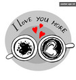 lov cups together vector image vector image