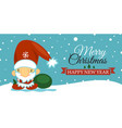 merry christmas and happy new year post card with vector image vector image