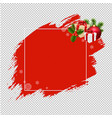 merry christmas banner red blobs transparent vector image vector image